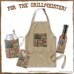 Grillmeister Father's Day Word Cloud Gifts