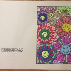 """""""Smile"""" from Feel Good Words, colored by Sandra Mills."""