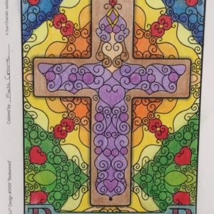 Redeemed Cross colored by Mela Crane