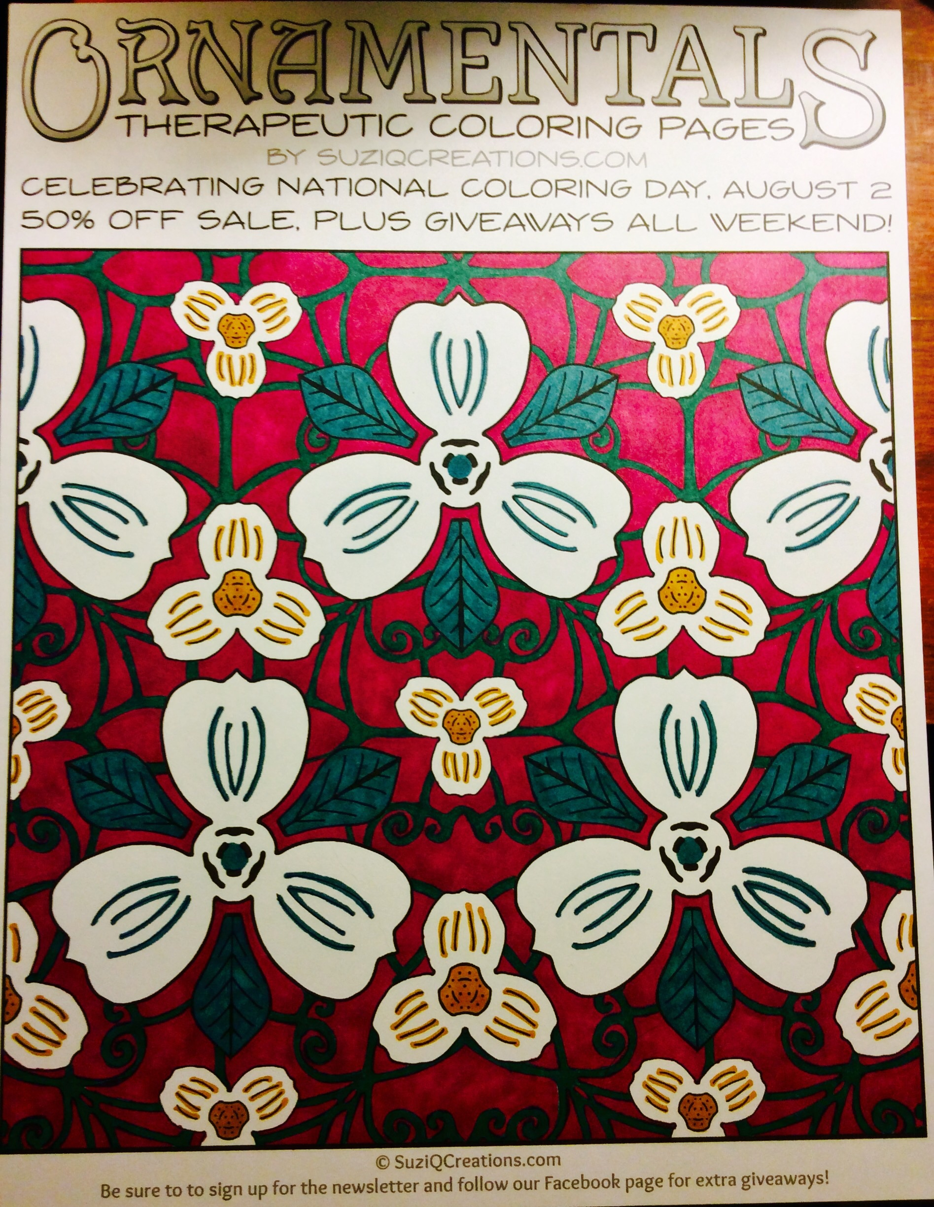 OrnaMENTALs Triple Treat Free Coloring Page - SuziQ Creations
