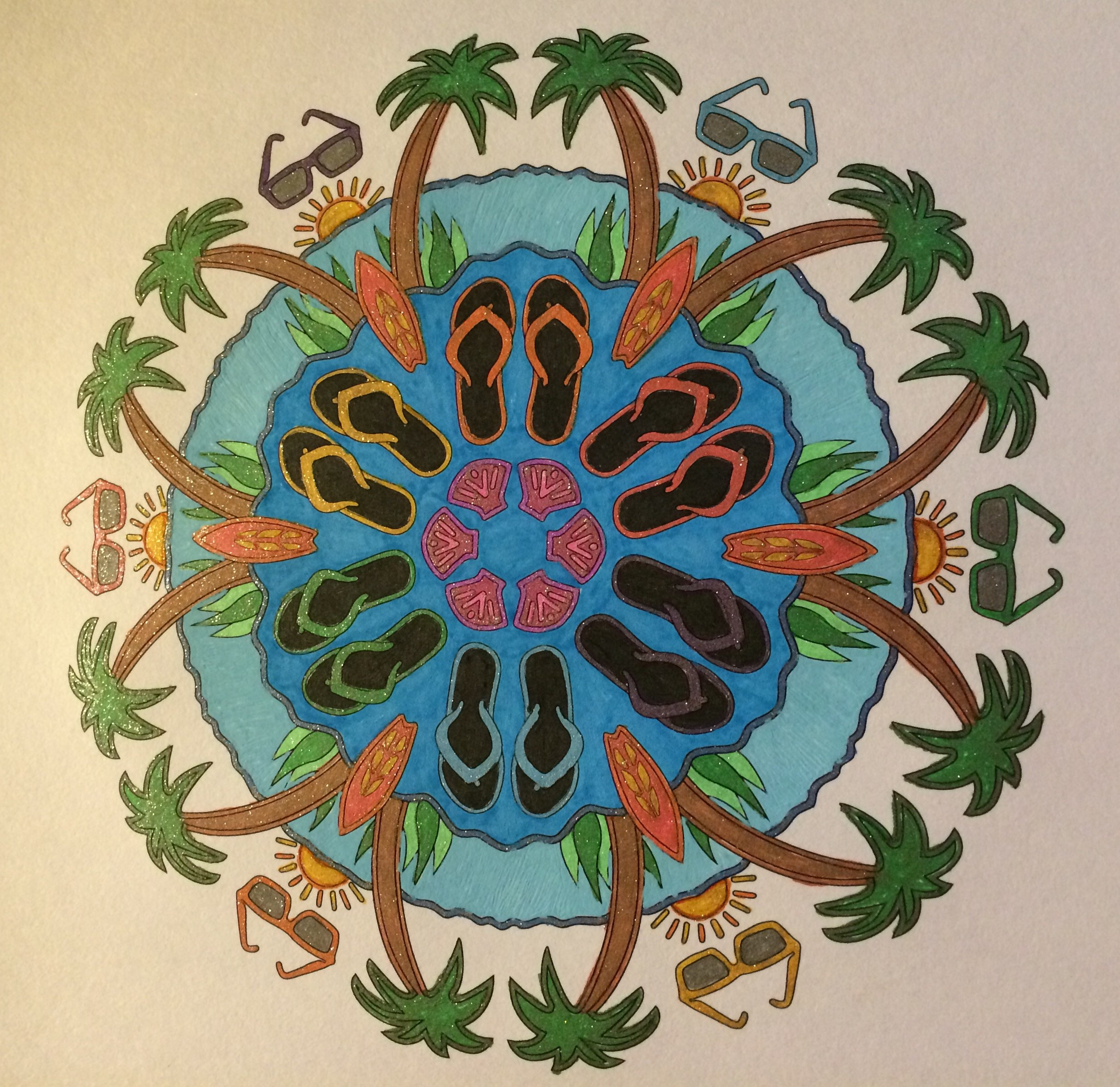 A Day at the Beach, OrnaMENTALs #0020, Colored by Lisa Frey.
