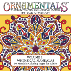 Front Cover of OrnaMENTALs Whimsical Mandalas