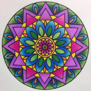 Mandala colored by Stephanie Walker