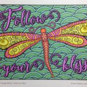 Follow your Bliss colored by Stephanie Walker