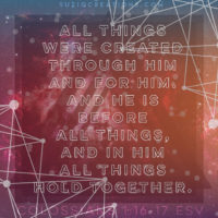 Colossians 1:16-17 All Things