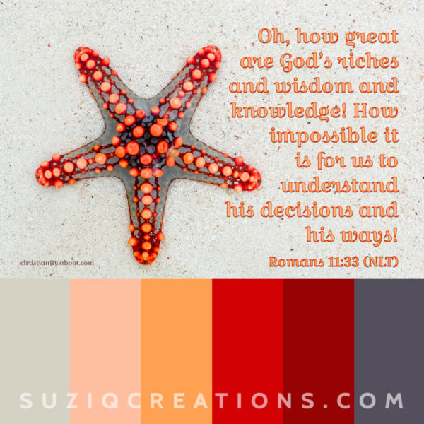 scripture swatches rom11-33