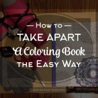 Take Apart A Coloring Book the Easy Way