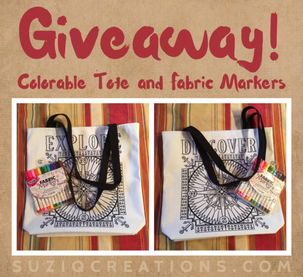 Colorable Tote and Fabric Markers Giveaway