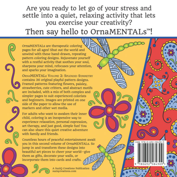 OrnaMENTALs Volume 2: Splendid Symmetry Back of Cover